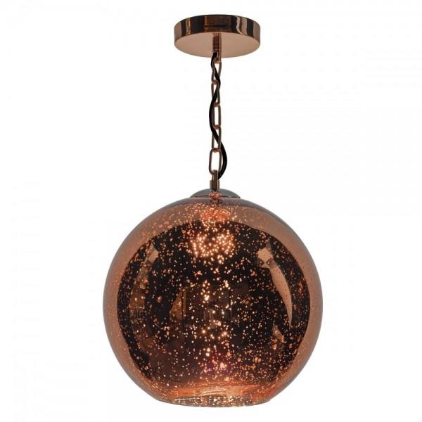 Dar Lighting SPE0164 Speckle 1 Light Electro Plated Pendant Copper Finish
