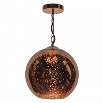 Dar Lighting SPE0164 Speckle 1 Light Electro Plated Pendant Copper Finish