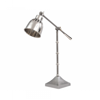 The Libra Company 700446 Miro Satin Grey and Nickel Table Lamp