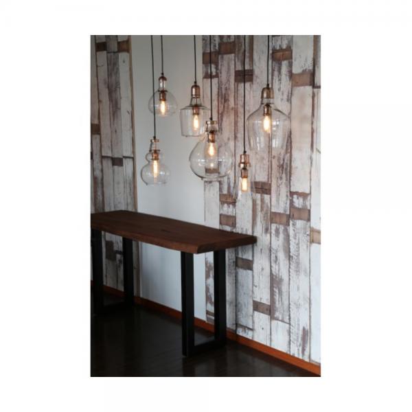 Light & Living 3052763 Glass Copper Hanging Pendant