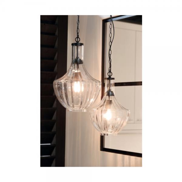 Light & Living 3060863 Galina Clear Hanging Pendant