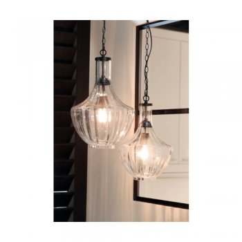 Light & Living 3060863 Galina Clear Hanging Pendant