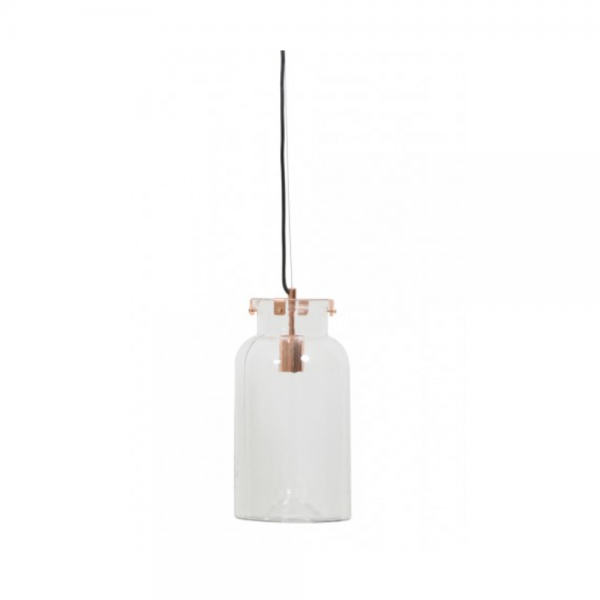 Light & Living 3061363 GADINA Glass and Copper Hanging Lamp