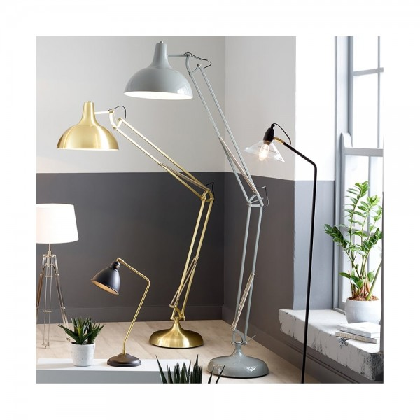 Pacific Lifestyle 32-057-C Grey Painted Oversize Task Floor Lamp