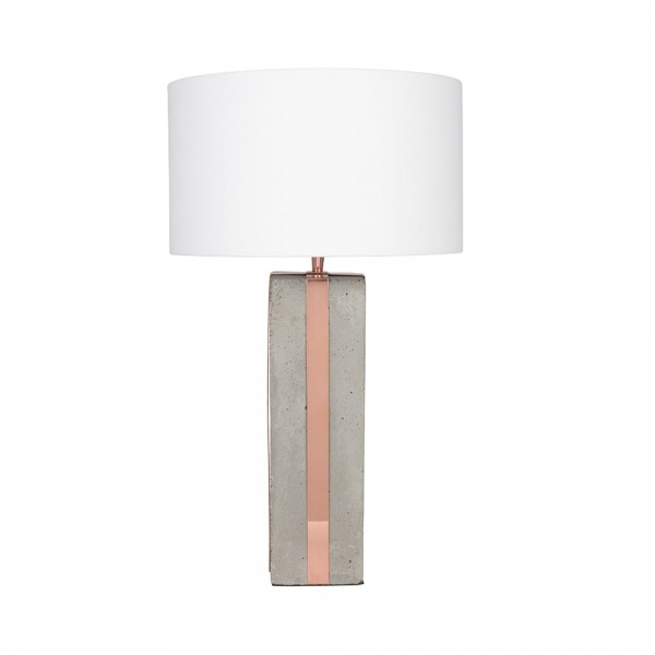 Pacific Lifestyle 30-404-K Concrete & Copper Detail Table Lamp