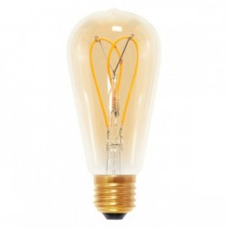 Segula 50531 Design Line 4W 2000K Dimmable E27 Golden Rustica LED Bulb with Curved Loop Filament