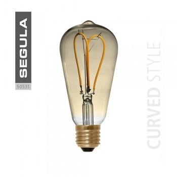 Segula 50531 LED, Dimmable 4W Filament Curved Edison Bulb