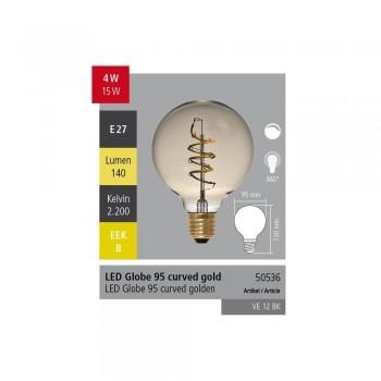 Segula 50536 95mm Curved Antique Globe Bulb