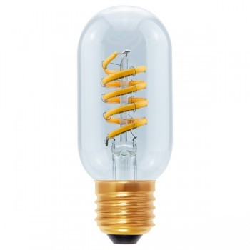 Segula 50527 Design Line Dimmable Radio Style Curved Clear Glass LED Bulb
