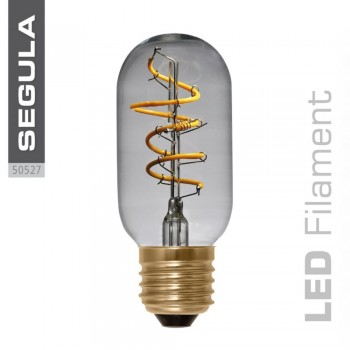 Segula 50527 LED, Dimmable Radio Style Curved Clear Glass Bulb