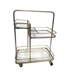 Culinary Concepts 3T-BRS-T Lanesborough Three Tier Drinks Trolley in Gold