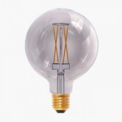Segula 50503 Design Line 6W 2000K Dimmable E27 Smokey Grey Globe 125 LED Bulb