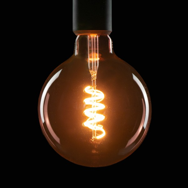 Segula 50505 Design Line 6W 2000K Dimmable E27 Smokey Pink Globe 125 LED Bulb