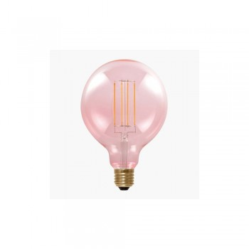 Segula 50505 Design Line 6W 2000K Dimmable E27 Smokey Pink Globe 125 LED Bulb