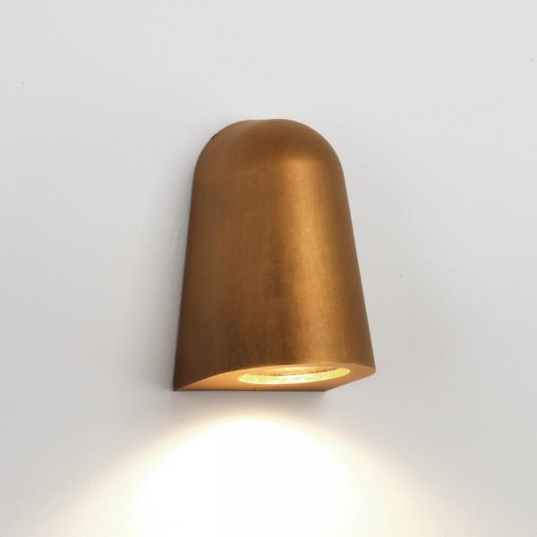 Astro 1317003 Mast Exterior Wall Light in Antique Brass
