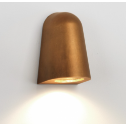 Astro 1317003 Mast Exterior Wall Light in Antique Brass