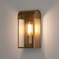 Astro 1339003 Newbury Exterior Wall Light in Antique Brass