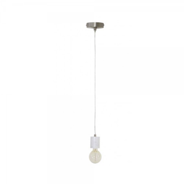 Light & Living 3300406 Calvi White Marble Pendant including the bulb