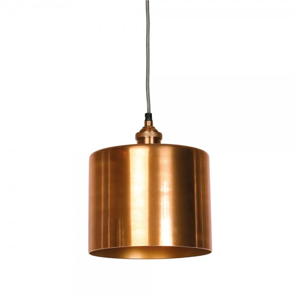 Culinary Concepts MDN-CYLGE-COP Moderne Large Antique Copper Cylinder Shade & Fitment