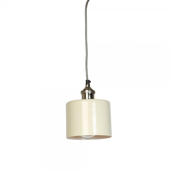 Culinary Concepts MDN-CYSML-CRM Moderne Small Cream Cylinder Shade with Nickel Fitment