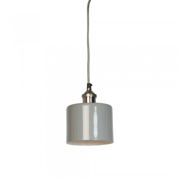 Culinary Concepts MDN-CYSML-GRY Moderne Small Grey Cylinder Shade with Nickel Fitment