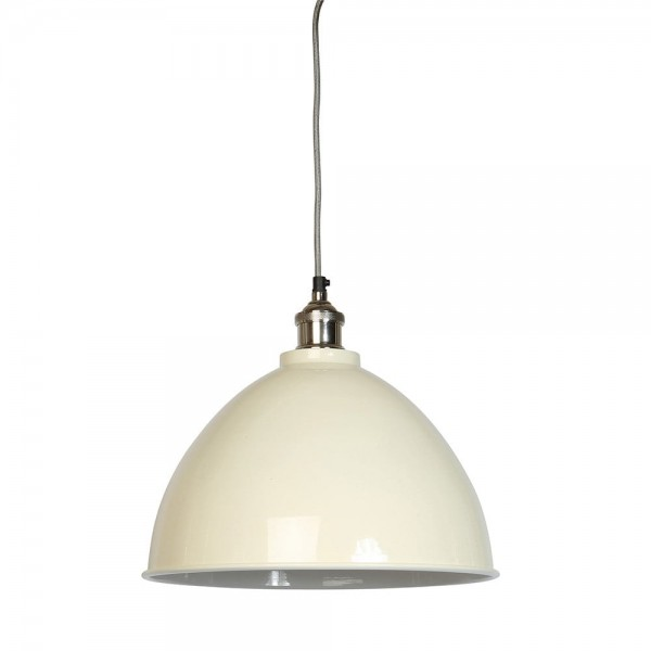 Culinary Concepts MDN-TPGE-CRM Moderne Large Cream Domed Shade & Nickel Fitment