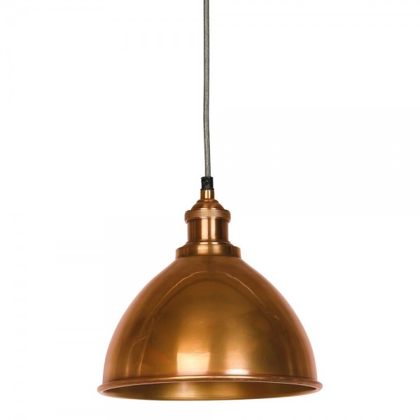 Culinary Concepts MDN-TPSML-COP Moderne Antique Copper Domed Shade & Fitment