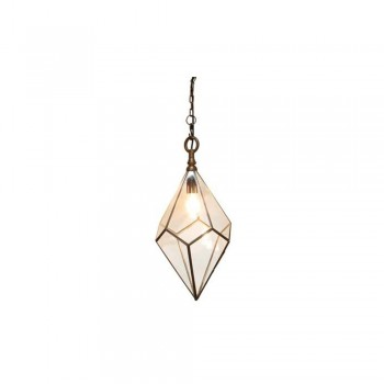 Culinary Concepts HL-5TPZ-MED Antique Copper Pentagonal Hanging Light - Medium