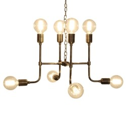 Culinary Concepts MTX-CHD-BRS Matrix Pendant Light in Antique Brass Finish