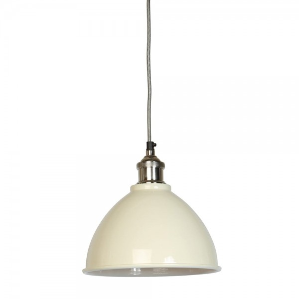 Culinary Concepts MDN-TPSML-CRM Moderne Small Cream Domed Shade & Nickel Fitment