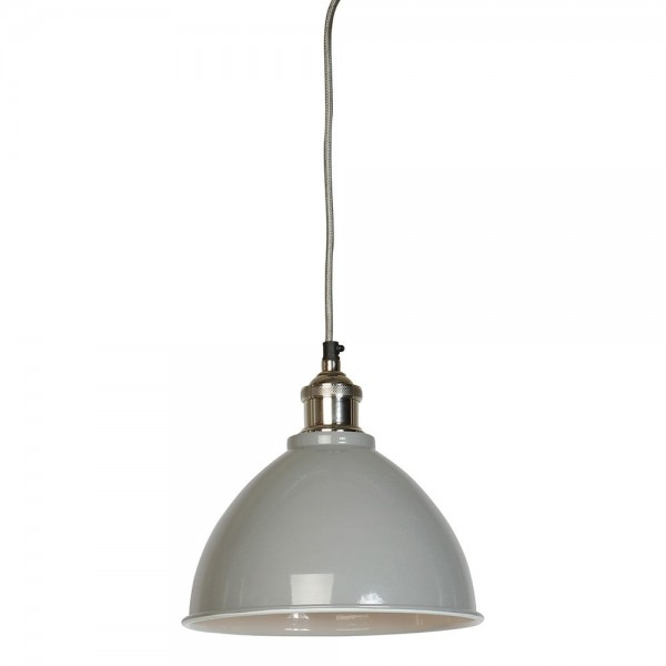 Culinary Concepts MDN-TPSML-GRY Moderne Small Grey Domed Shade & Nickel Fitment