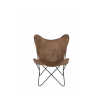 Light & Living 6723383 Butterfly Leather Brown Chair