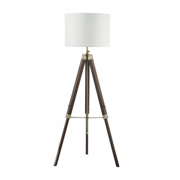 Dar Lighting EAS4947 Easel Tripod Floor Lamp Dark Wood Base Only