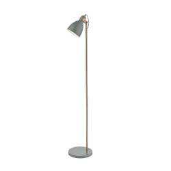Dar Lighting FRE4939 Frederick Gloss Grey/Copper Floor Lamp