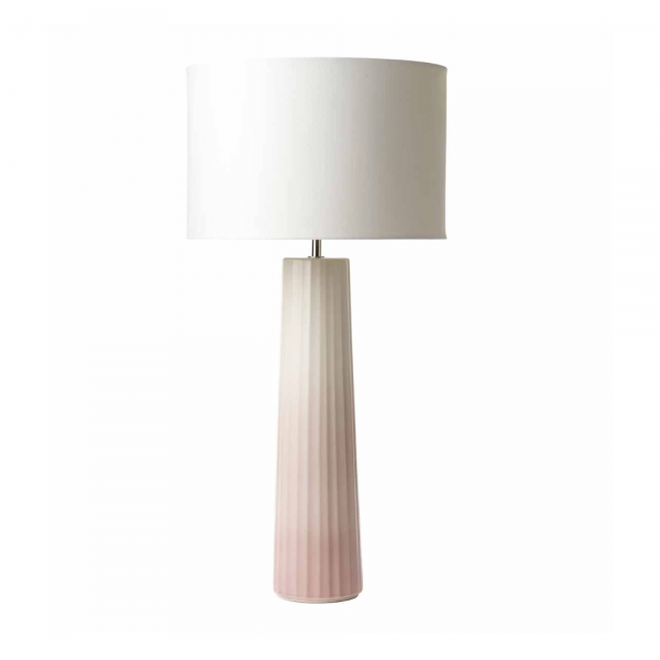 Dar Lighting ABI4203 Abilo Table Lamp Ceramic & Pink