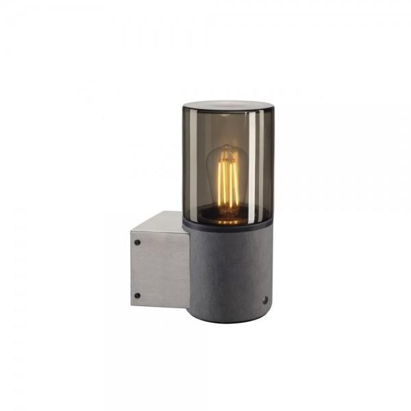 SLV 155752 LISENNE Grey/Smoked-Glass Wall Light