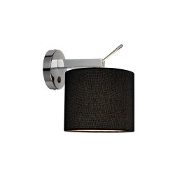 Intalite 156020 TENORA WL-1 Black Wall Light