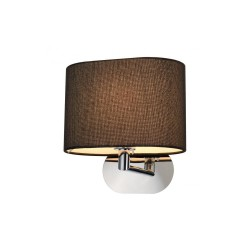 Intalite 155860 SOPRANA OVAL WL-1 Black Wall Light