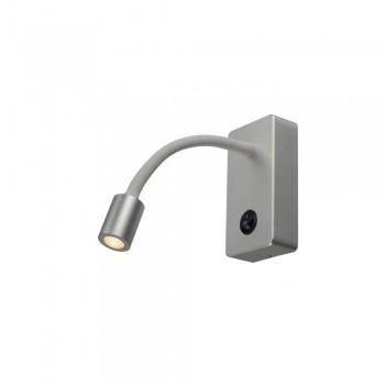SLV 146704 Pipoflex Silver-Grey Wall Light