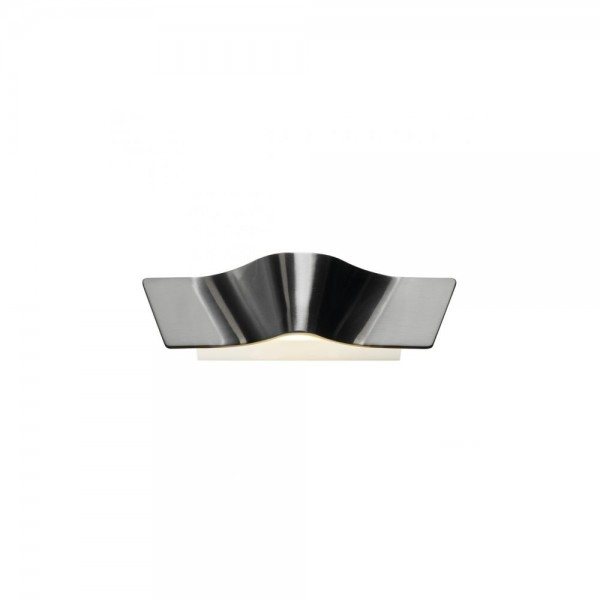 SLV 147826 Aluminium Brushed Wave Wall Light