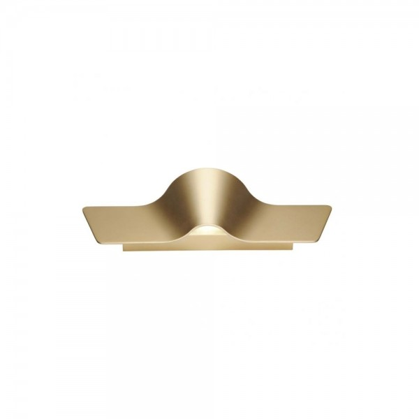 SLV 1000651 Brass Wave 45 LED Dim to Warm Wall Light