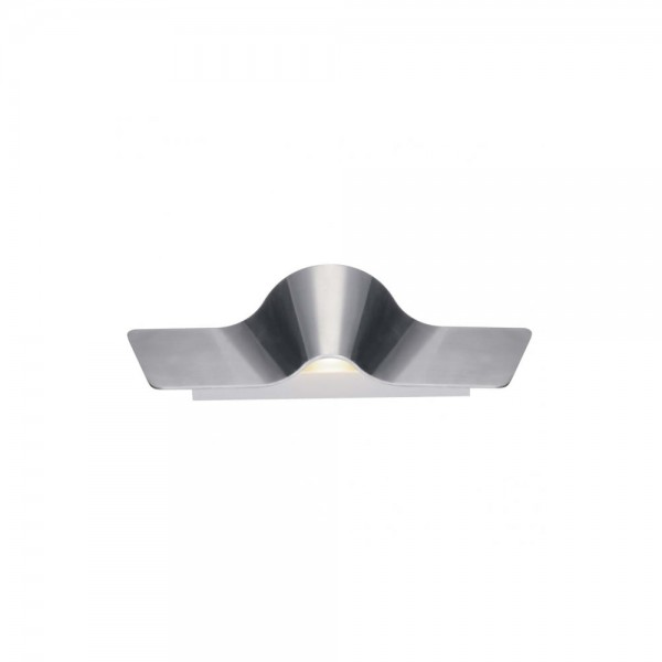 SLV 1000652 Aluminium/White Wave 45 LED Dim to Warm Wall Light