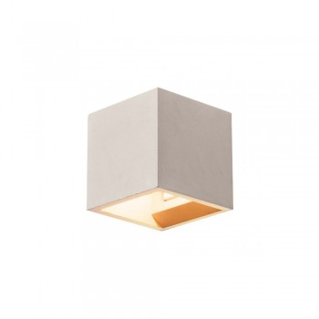 SLV 1000910 Grey Solid Cube QT14 Wall Light