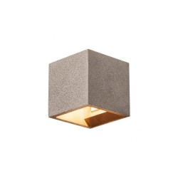 Intalite 1000911 Black Sandstone Solid Cube QT14 Wall Light