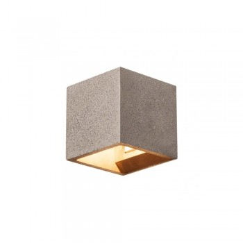 SLV 1000911 Black Sandstone Solid Cube QT14 Wall Light