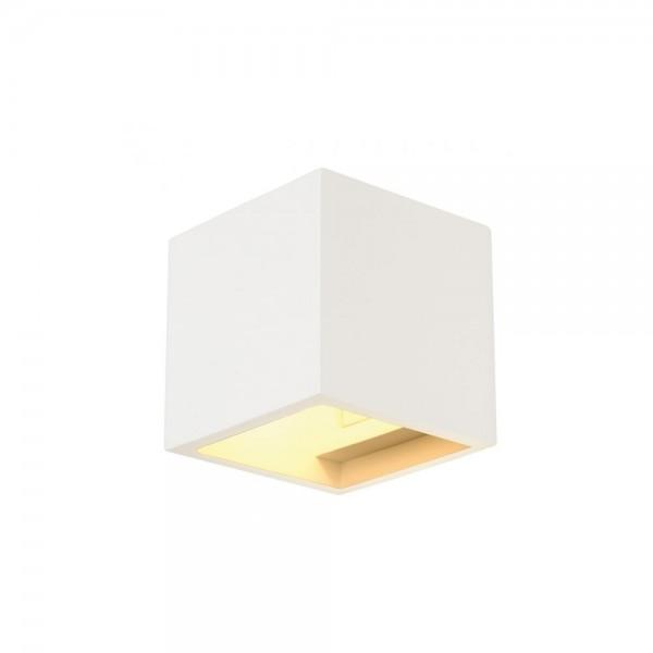 SLV 148018 White Plastra Cube Wall Light