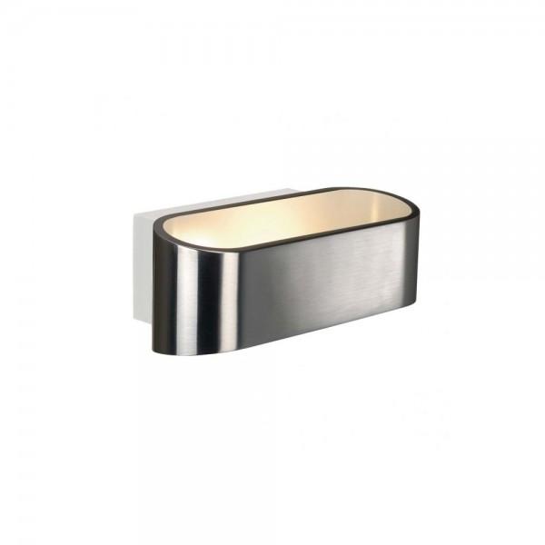 SLV 1000637 Aluminium Brushed/White Asso LED Dim to Warm Wall Light