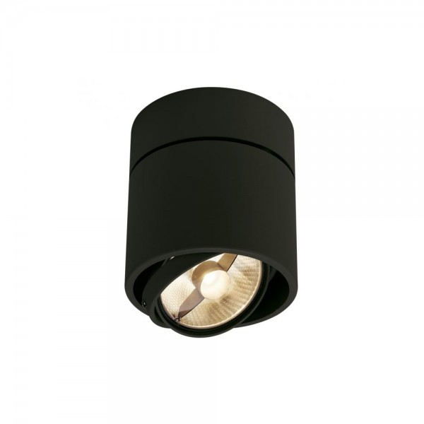 SLV 117160 Matt bLACK Kardamod Surface Round ES111 Single Ceiling Light