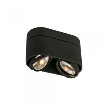 SLV 117180 Matt Black Kardamod Surface Round ES111 Double Ceiling Light