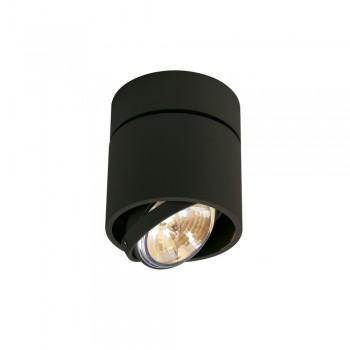 SLV 117170 Matt Black Kardamod Surface Round QRB Single Ceiling Light